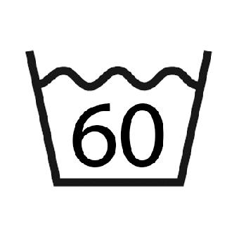 Waslabel 60 graden