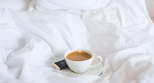 Kopje koffie in bed