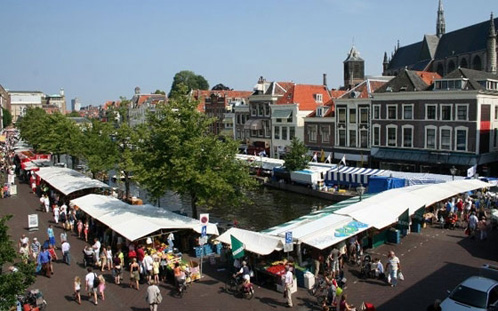 Zaterdagmarkt in Leiden
